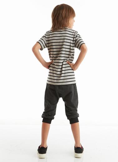 Mushi Lets Play Erkek Çocuk Kapri Takım Gri
